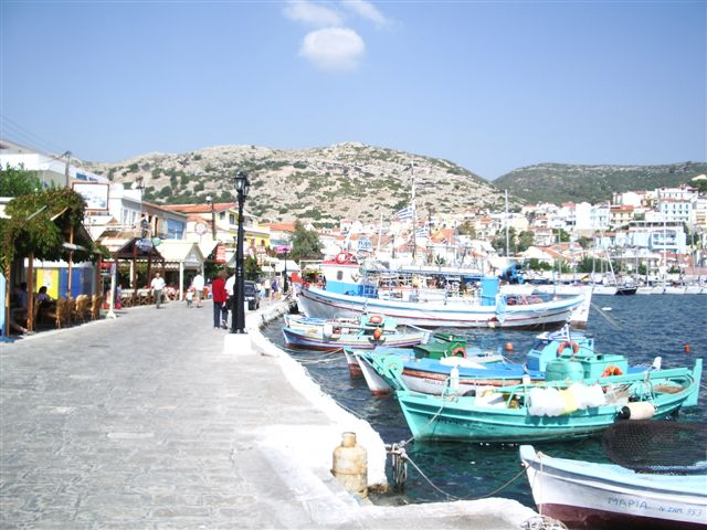 Around the harbour of Pythagorion, samos